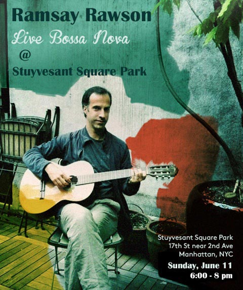 Live Bossa Nova at Stuyvesant Square Park Poster