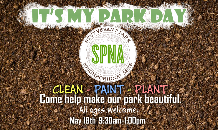 It's My Park Day informational banner